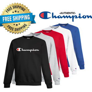 Champion Script Logo Sweat Shirt--Brand New